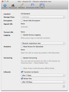 Lifecycle Configuration for S3 (Mac)